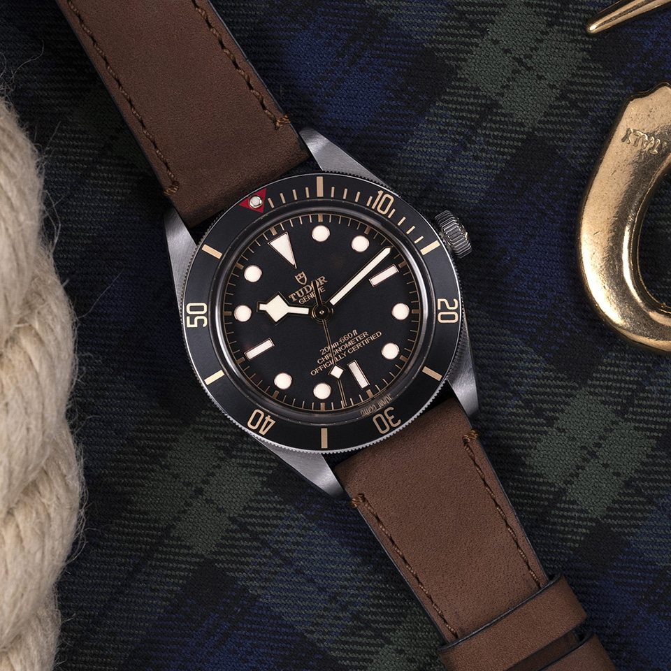 TUDOR BLACK BAY FIFTY EIGHT KAHVERENGI DERI KAYIŞ - M79030N-0002