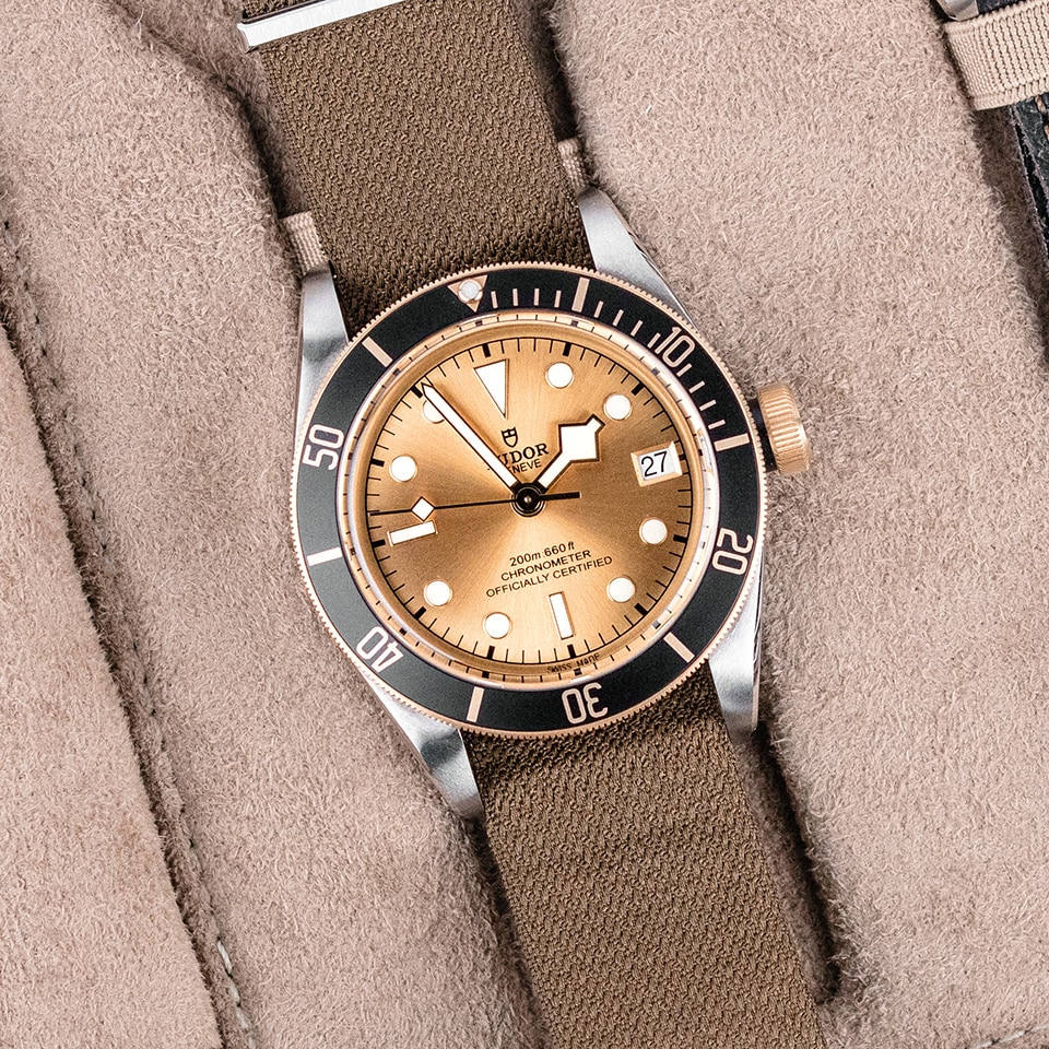 TUDOR BLACK BAY S G FABRIC STRAP - M79733N-0006