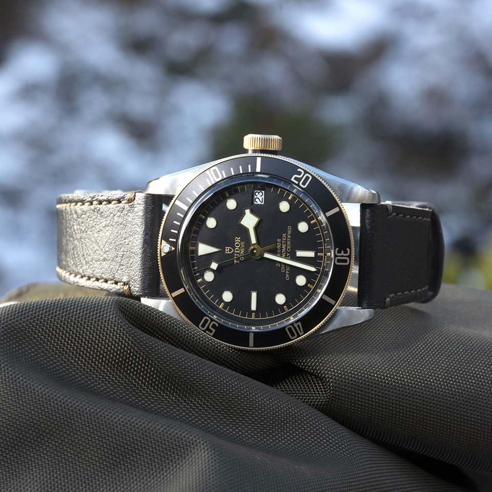 TUDOR BLACK BAY S G AGED LEATHER STRAP - M79733N-0007