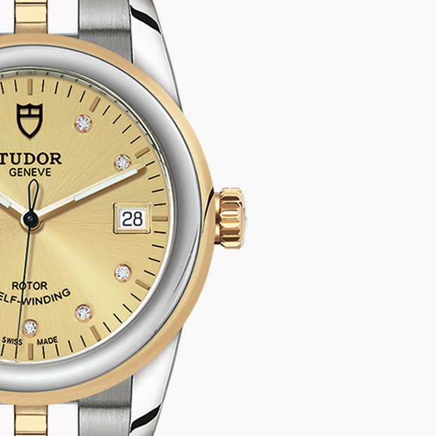 TUDOR  SET YOUR GLAMOUR DATE WATCH - M55003-0006